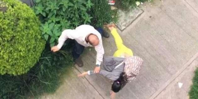 #LordPeatones invade línea peatonal y ataca a pareja