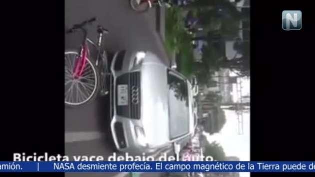 Golpeó con su Audi a un ciclista