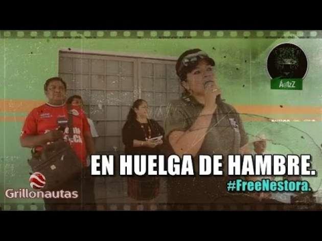 Nestora Salgado cumple ya nueve días en huelga de hambre.